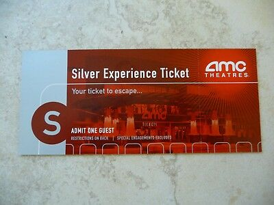 AMC Theatres Silver Experience Movie Ticket for 1 Free Admission