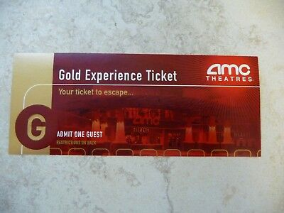 AMC Theatres Gold Experience Movie Ticket for 1 Free Admission