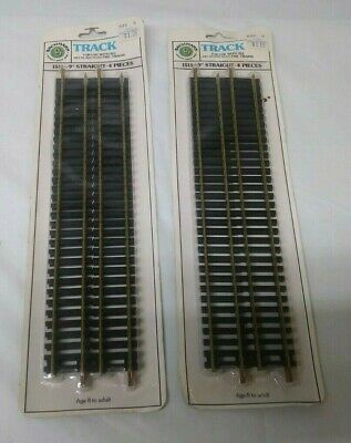 Bachmann Ho 8 Pieces, 9In Straight Track New In Package No 1511 Brass