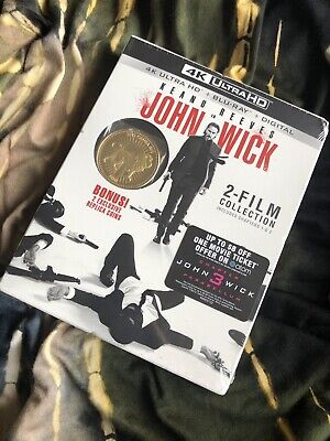John Wick 2 Film Collection 4K Ultra HD + Blu-Ray + Digital - 2 Exclusive Coins