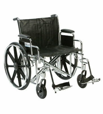 "Sentra BARIATRIC Wheelchair - SELF PROPELLED 22"" or 24"" Seat Widths - 200Kg"