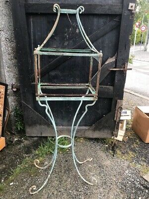 Door Plant or Aquarium Forged Iron Garden Plant 19th Castle C1787