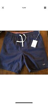 07565305f4672 Vineyard Vines Target Mens Swim Trunks Shorts Bathing Suit Navy Blue MEDIUM