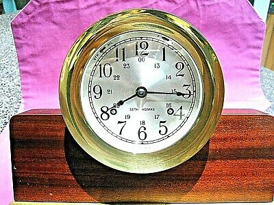 Vintage Seth Thomas Corsair Ship Bell Nautical clock E537-000 cat:1004