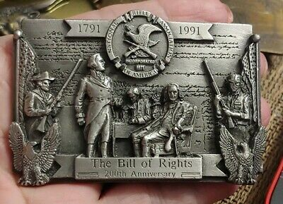 NRA Belt Buckle National Rifle Association The Bill Of Rights 200th Anniv. GA