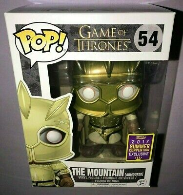 Funko POP THE MOUNTAIN ARMOURED 2017 SDCC EXCLUSIVE GAME OF THRONES **NEW**