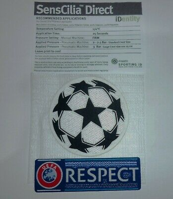 Champions League - Respect And Star Ball Sets - Sleeve Patch - **24 Hour Sale**