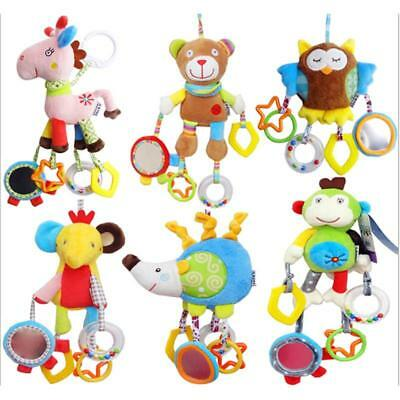 1PCS Baby Infant Rattles Plush Animal Stroller Bed Hanging Bell Play Toy Soft JJ
