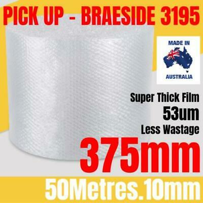 BUBBLE CUSHIONING WRAP 375mm x 50M | Clear 10mm Bubble Roll Bubble Wrap Roll
