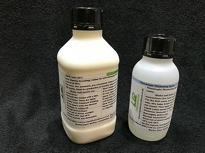 1 Litre Liquid Latex and 500ml Thickening Agent, Mould Making, Dipping Rubber.