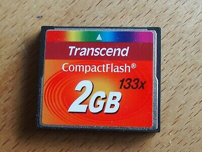 +++Original Transcend CF Card Compact Flash 2 GB 133x Gebrauchtware+++
