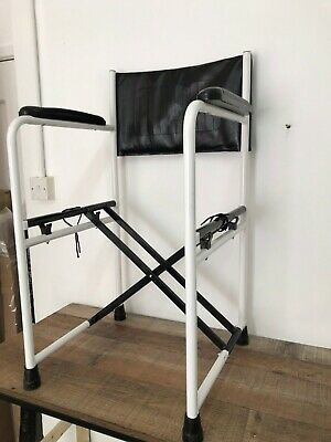 Deluxe Folding Commode Chair With Armrests CHAIR ONLY
