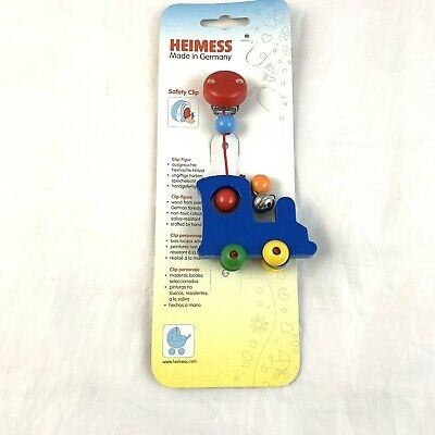 Soother Chain 763600 Heimess Clip On Football Dummy Chain Blue//Yellow