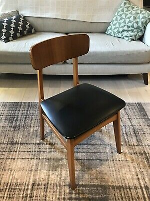 Vintage Mid Century Danish Style Dining Chairs X 4