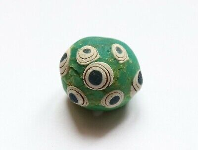 Ancient Large Viking Era Decorated Glass Bead