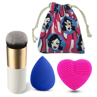 Makeup Foundation Brushes And Makeup Sponge Puff Beauty Cosmetic Tools With Bag