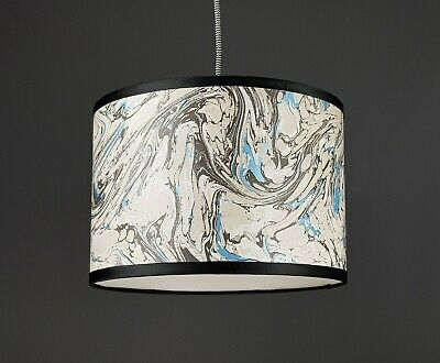 Handmade Marble Effect Wallpaper Lampshade *Choose Meatllic linings* Copper Gold