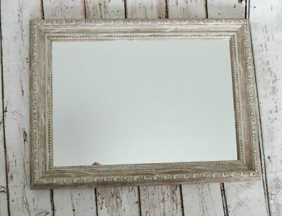 Shabby Chic Ornate Framed Wall Mirror | Antique Vintage Style | French Cream