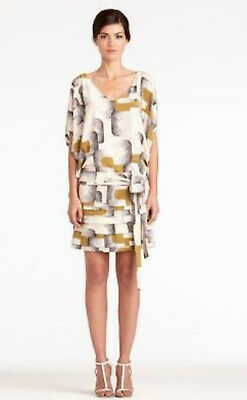 b1f574bc7e66 Diane Von Furstenberg Edna 100% Silk Dolman Sleeves Mod Dress sz 8 ~ Worn  Once