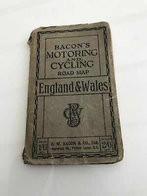 Bacons Motoring And Cycling Road Map For England And Wales