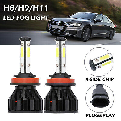 2x H11 H8 FOG LIGHT LED XENON WHITE 6500k For AUDI A5 2007-2011 REPLACE FOG BULB