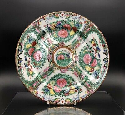 Beautiful Vintage Chinese Rose Medallion Hand Painted Porcelain Plate 10''
