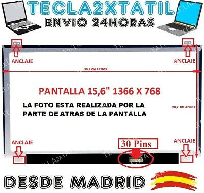"Pantalla De Y Para Portatil Nt156Whm-N32 15,6"" Hd Lcd Led 30 Pin 1366X768 Tc2X"