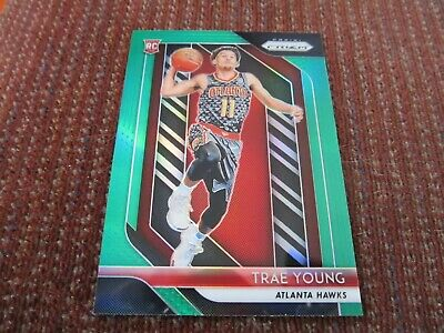 2018-19 Panini Prizm Trae Young #78 Green Rookie Refractor RC NM-MT/MT