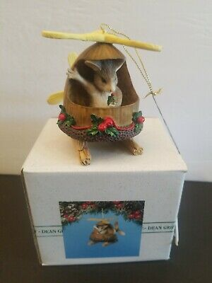 CHARMING TAILS BY DEAN GRIFF SILVESTRI TRAINING WINGS FIGURINE 87398 ~ CUTE
