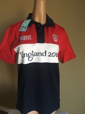 6199df46963 Official rugby world cup 2015 - England Canterbury Polo Shirt CCC Small