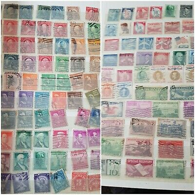 SALE Approx 0.005p PER STAMP. rare unchecked 1000 USA US Stamp Stamps Collection
