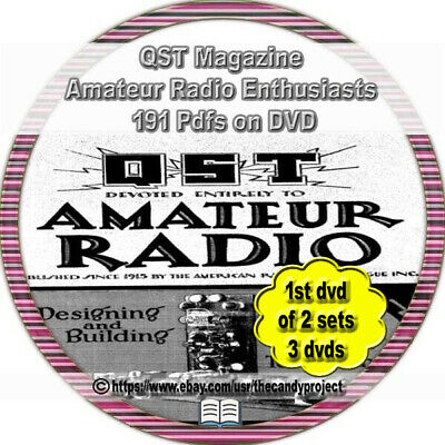 190 Pdfs Back issues QST Magazine Vintage DVD Radio Hobbyist 6 DVDs