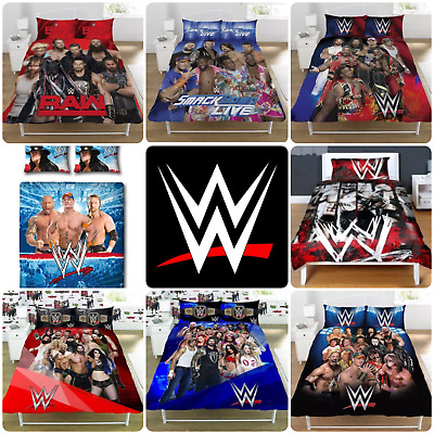 Official WWE Duvet Covers Single/Double Bedding Raw Smackdown Wrestlemania