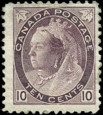 1893 Mint Canada Scott #83 10c Queen Victoria Numeral Issue Stamp Hinged