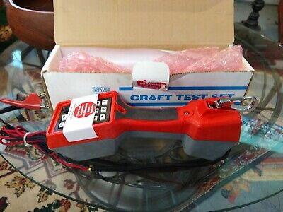 Harris Dracon Telephone Craft Test Set TS-22L Never Used In Box Red