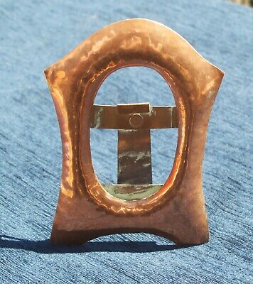 Antique Arts and Crafts Copper Picture Frame Hand Hammered