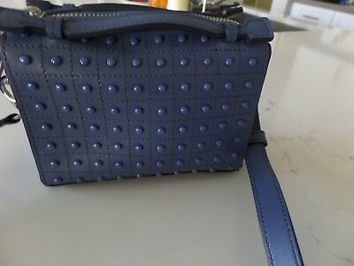 7d25a1a7ccf New Latest TODS Micro Gommino studded small shoulder bag blue leather  madeITALY