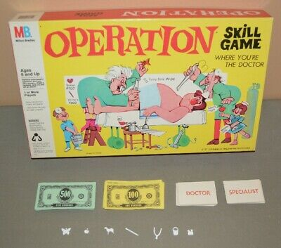 replacement parts - OPERATION board game - You Pick & Choose