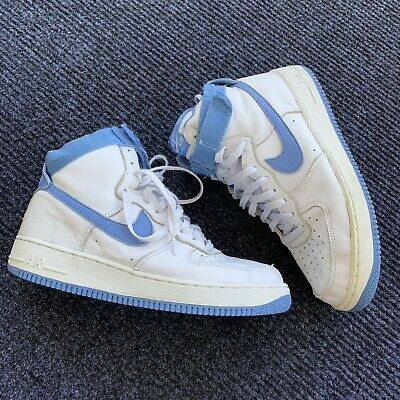 b0e8c0d2ffb3e VINTAGE NIKE AIR Force 1 High 2001 Columbia Blue Mens Size 10.5 ...