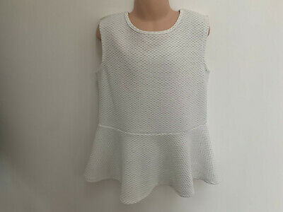 ex River Island Girls White Sleeveless Dress Age Top 11-12 Years Old