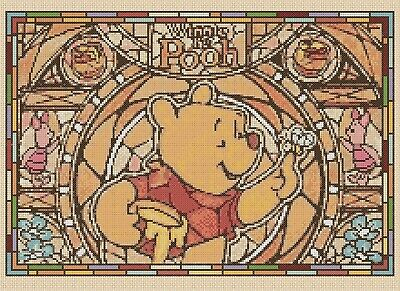 Winnie the Pooh Stained Glass Counted Cross Stitch Chart No. 10-359c