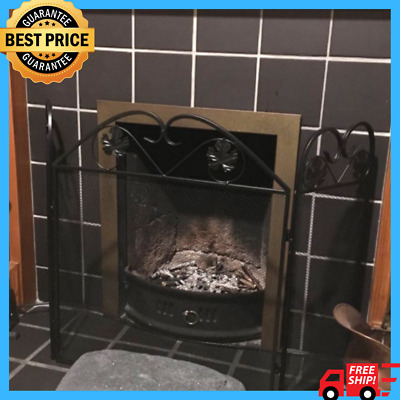 Vintage Fire Guard Screen Fireplace Spark Cover Protector Fireside Safety Shield