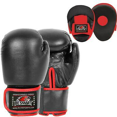 Boxing Focus Pads Hook and Jab Mitts Pro Fight Training Punch Gloves MMA