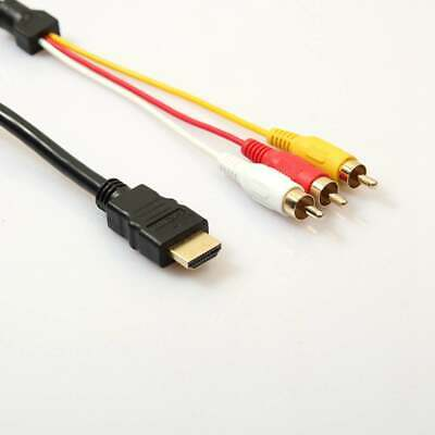 New 1080P HDMI Male S-Video To 3 RCA AV Audio Cable Cord Adapter For TV HDTV DVD