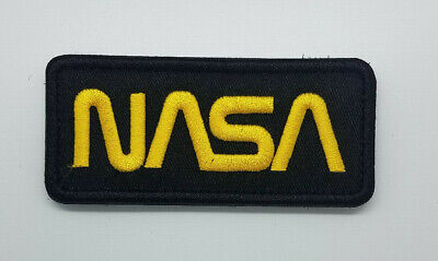 NASA Black embroidered Patch with hook & loop 3 1/2 inches long