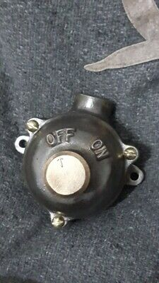 Vintage Walsall Flame Proof External Light Switch Salvage Reclaimed Industrial