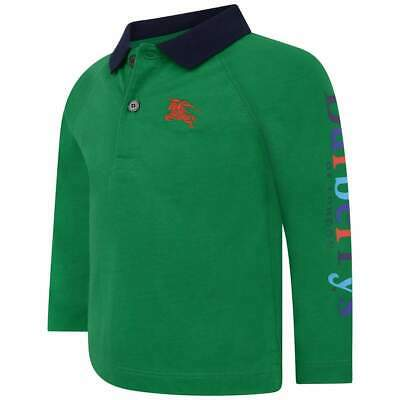 NWT NEW Burberry Laird baby toddler boys Bright pigment green polo shirt 2y