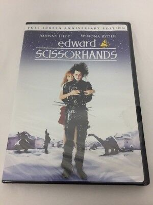 Edward Scissorhands DVD Full Screen Anniversary New and Sealed