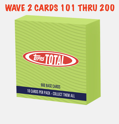 2019 Topps Total - WAVE 2 SINGLES # 101-200 YOU PICK YOUR CARDS FREE SHIPPING
