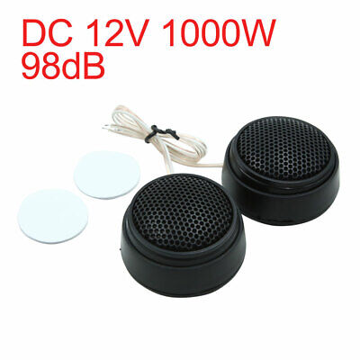 DC 12V 1000W 98dB Black Universal Audio Tweeter Loud Speaker Set for Car Vehicle